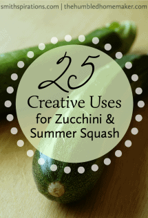 As summer starts to wind down, zucchini plants are really gearing up! Try some of these creative ways to use zucchini and summer squash and take advantage of this frugal vegetable's abundance.
