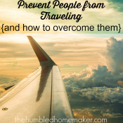 3 Things That Prevent People from Traveling