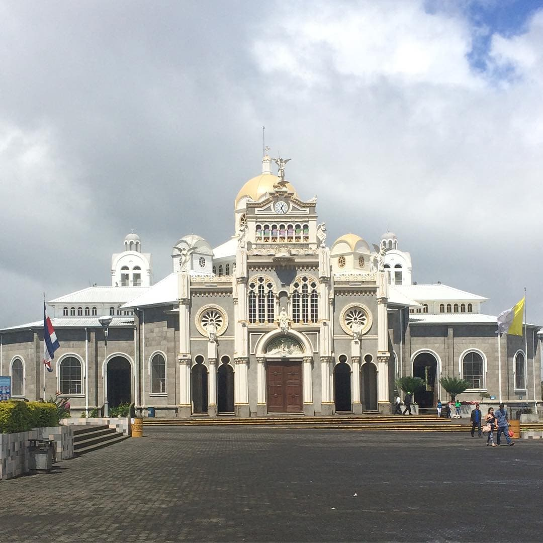 We stopped by La Basilica Cathedral in Cartago, Costa Rica on our way back to San Jose.