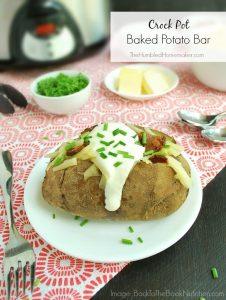 Crock Pot Baked Potato Bar