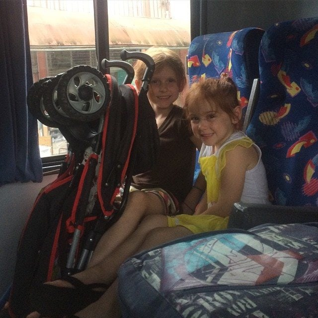 girls on bus