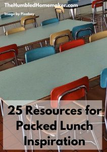 25 Resources for Packed Lunch Inspiration