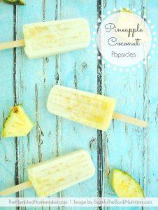 Creamy Pineapple Coconut Popsicles