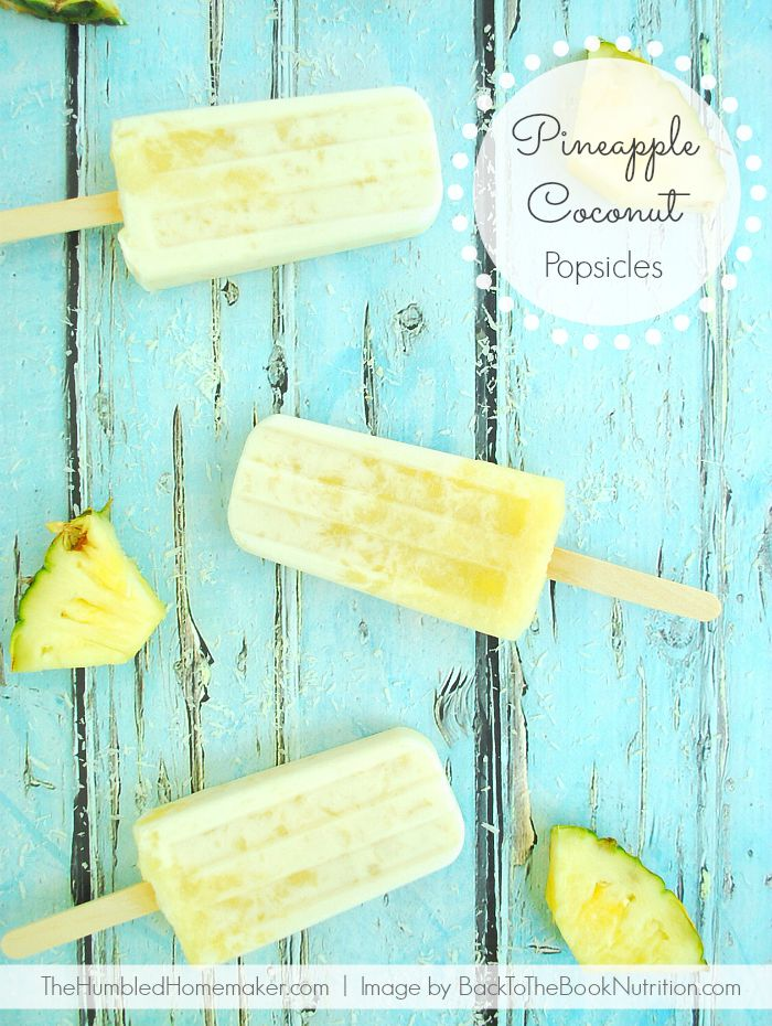 These creamy, tropical Pineapple Coconut Popsicles are the perfect frozen treat to celebrate the end of summer!