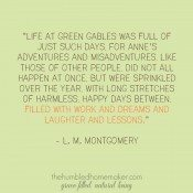 Green Gables quote