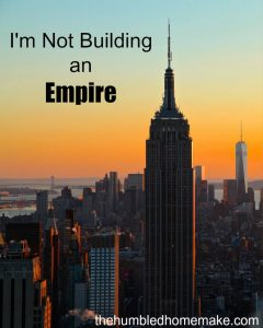 I Don't Want to Build an Empire; I Want to Build a Community