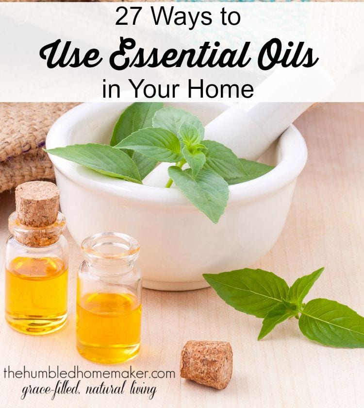Essential oils are a hot topic, and I'm excited to share with you 27 great ways to use essential oils in your home!