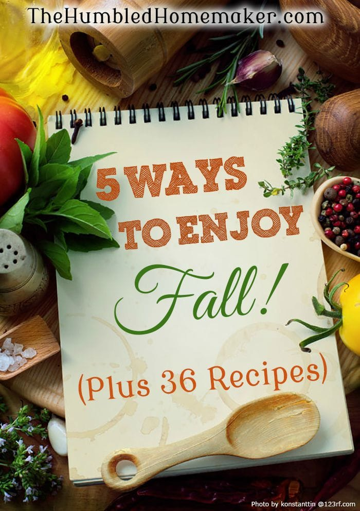 I love to focus on 5 ways to enjoy fall: decorations, lots of yummy food, drinks, smells, and activities!