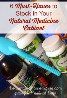 Cold and flu season will soon be here. Here are six must-haves that I keep stocked in my natural medicine cabinet!