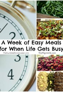 There will always be seasons that call for easier-than-normal meals. And I want to help you with a fresh inspiration for a week of easy meals.