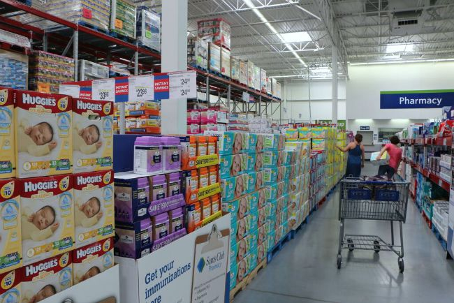 hosting a baby sprinkle shower shopping at sam's club