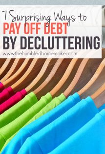 It might seem obvious to hang onto everything that might be useful when you're trying to save money. However, you might actually be able to pay off debt by decluttering even faster! Here's how.