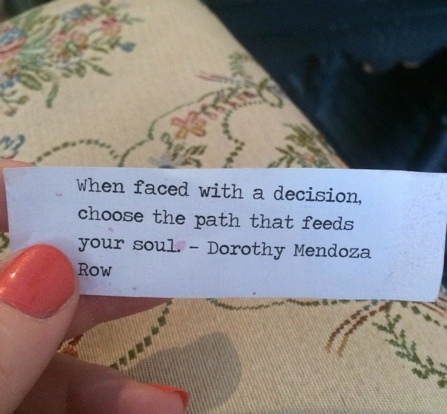 when faced with a decision