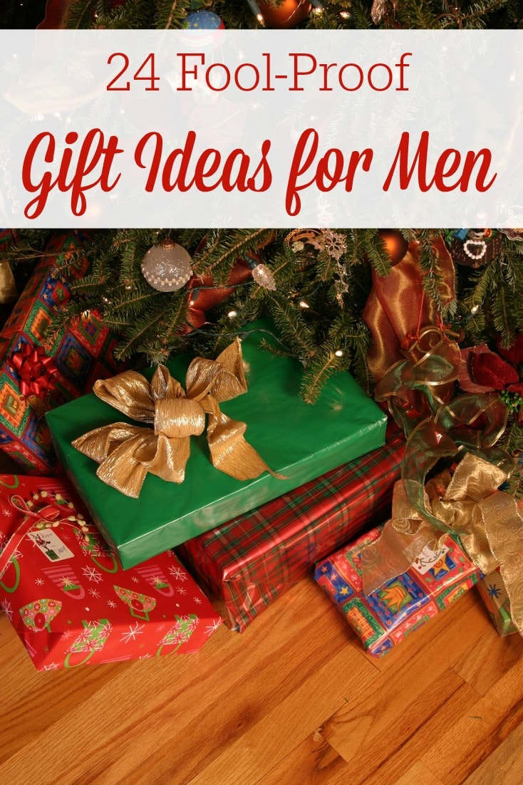 Gift Ideas for Men: Men are usually the hardest people to buy for, or at least it seems that way to me. We hope these 24 fool-proof gift ideas for men will help take away decision fatigue and stress over what to get your man this year!