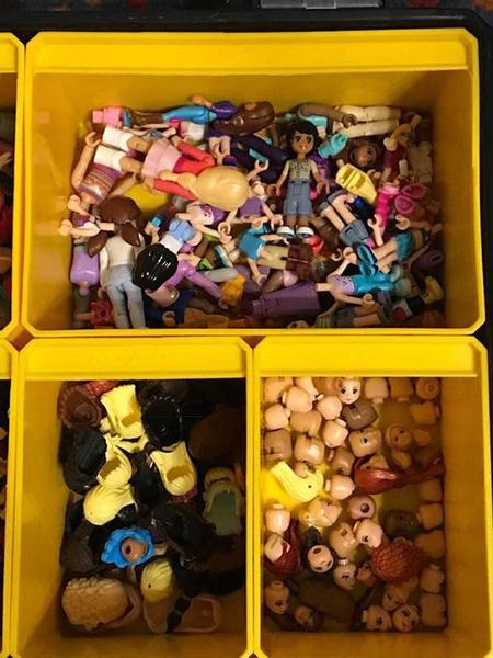 easy ways to organize LEGO - storage bins