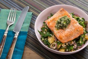 Seared Salmon and Salsa Verde