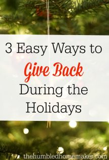 3 Easy Ways to Give Back During the Holidays