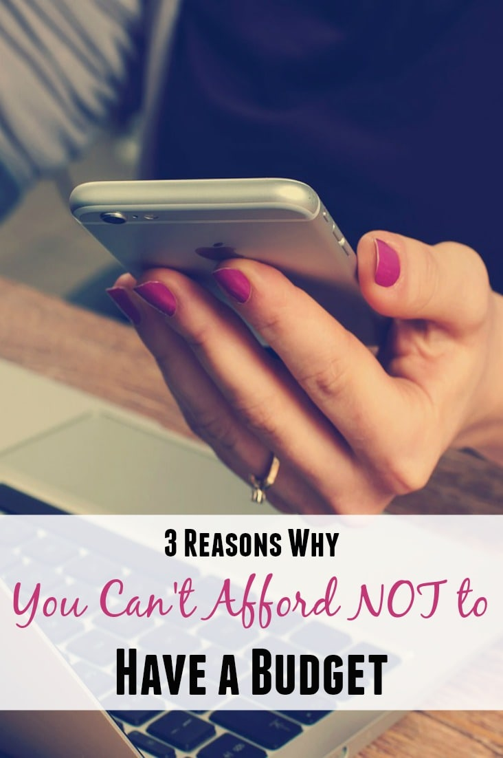 Think you can't live on a budget? Think again! Check out these 3 reasons why you can't afford NOT to live on a budget!