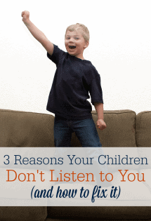 Children don't listen to you? Here are three possible reasons why (and how to fix it!) #MindfulParenting #ParentingTips #ChristianParenting