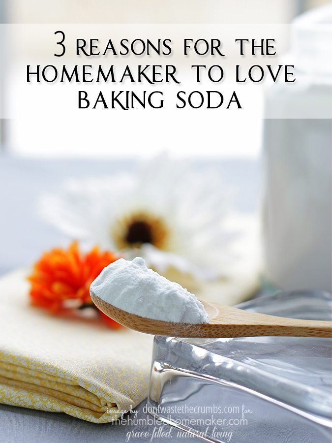 Baking soda has many great purposes, but I can think of 3 reasons for the homemaker to love baking soda.