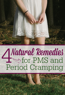 You don't have to dread your period anymore! Here are 4 natural things I use every single month to help with PMS symptoms--and especially cramping!