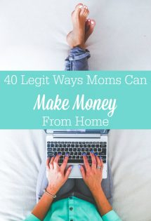 Think you can't make money from home? Think again! Whether you're looking to make a little extra change or a full-time income, there are legit ways moms can make money from home!