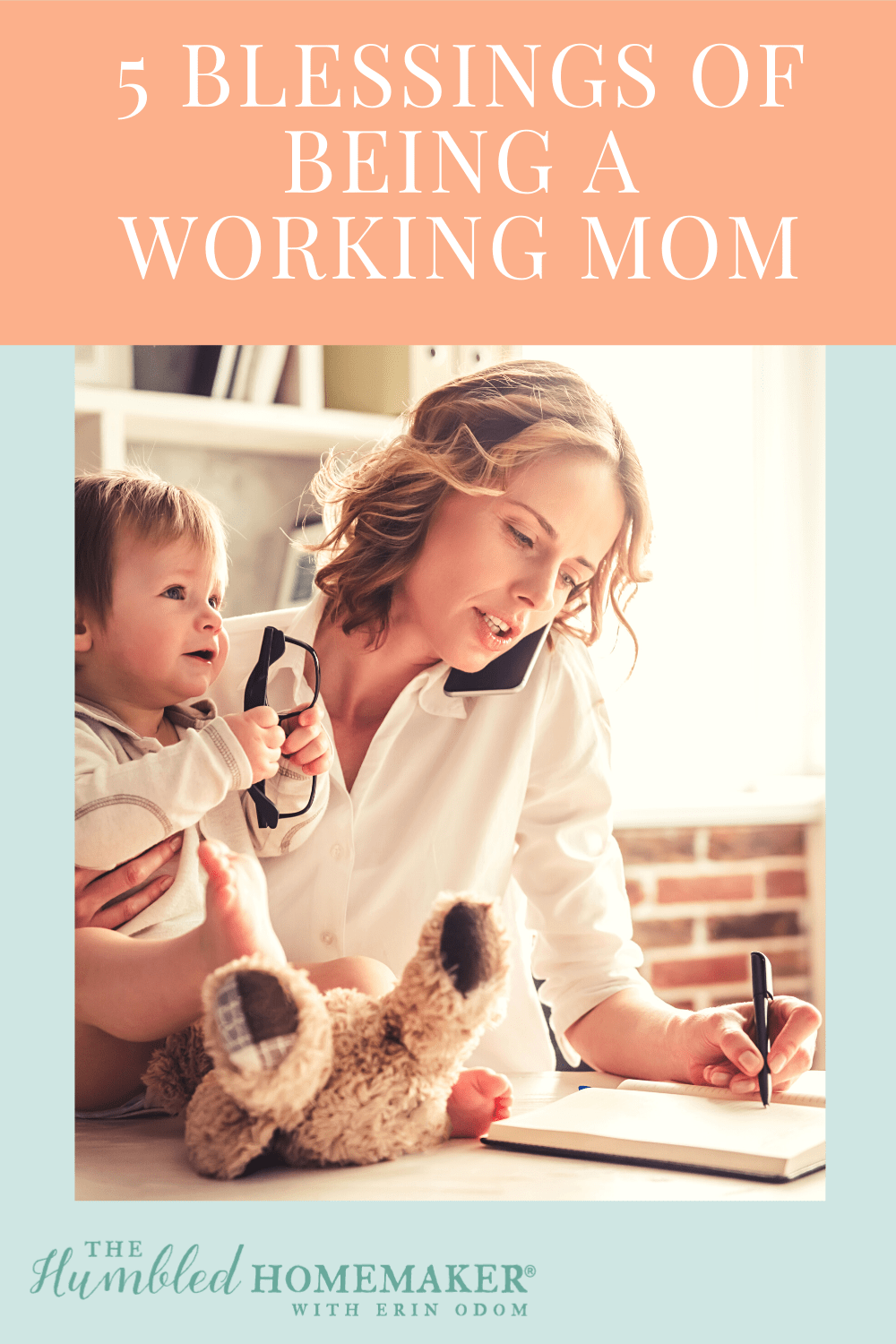 Here's some encouragement for all you working moms out there! If you want to stay home with your kids, here's encouragement and advice–plus a look at some of the blessings that come with your time in the workplace!
