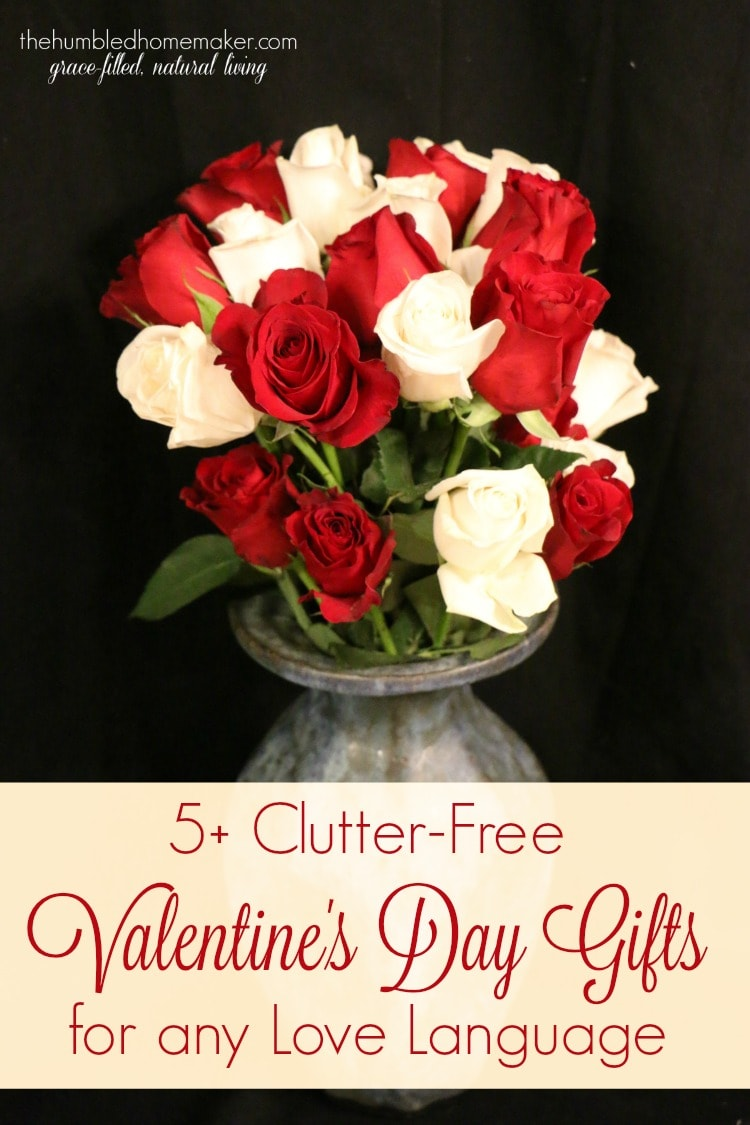 Is it possible to give gifts that don't clutter up the house and meet your loved one where they most feel loved? I think so! Check out these 5+ clutter-free Valentine's Day gifts for any love language.