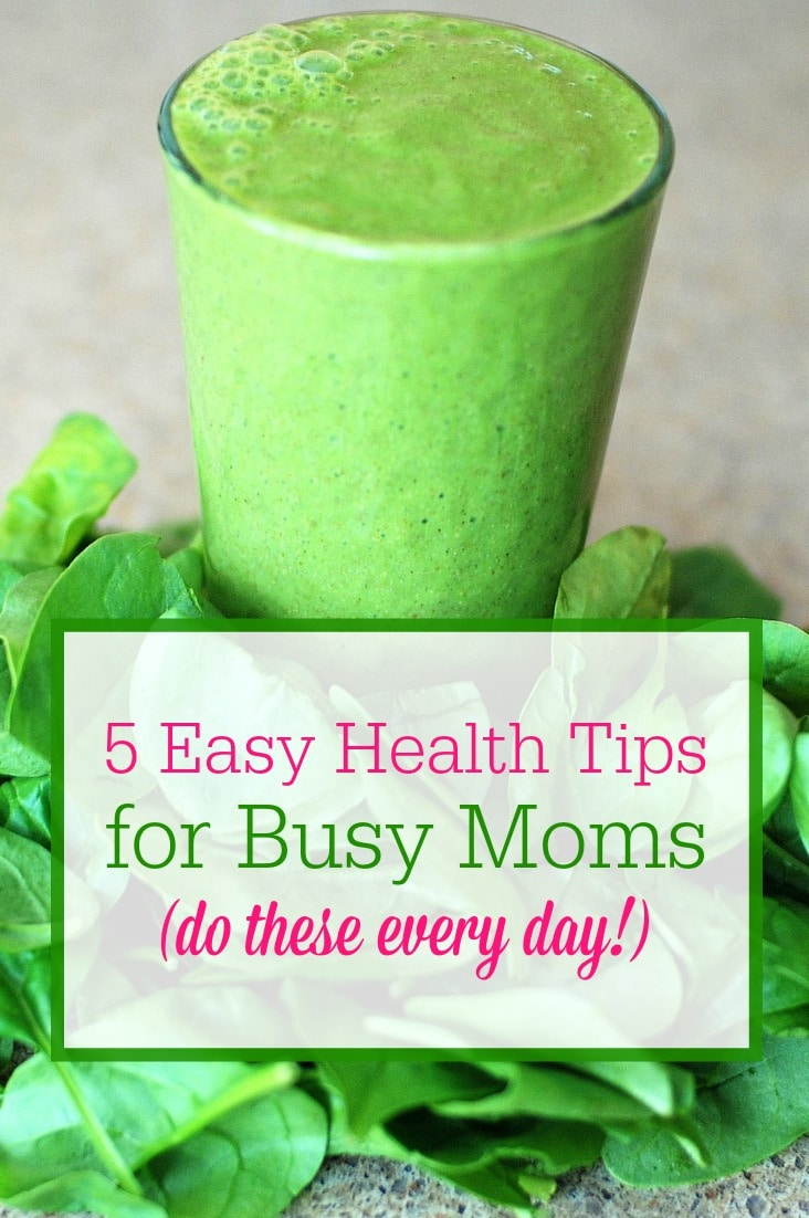Busy moms, stay healthy with these 5 easy health tips from a mom of 10! Implement these simple habits into your daily wellness routine so you can enjoy better energy!