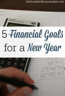 The start of the new year is the prime time to set goals. Financial goals should be at the top of the list!