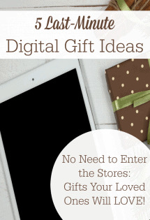 Your loved ones will love these last-minute digital gift ideas! There's no need to enter stores for these!