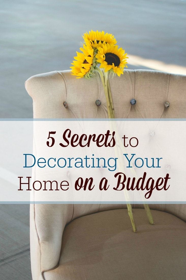 Want to turn your living space into a home but you're short on funds? Here are 5 secrets to decorating your home on a budget.