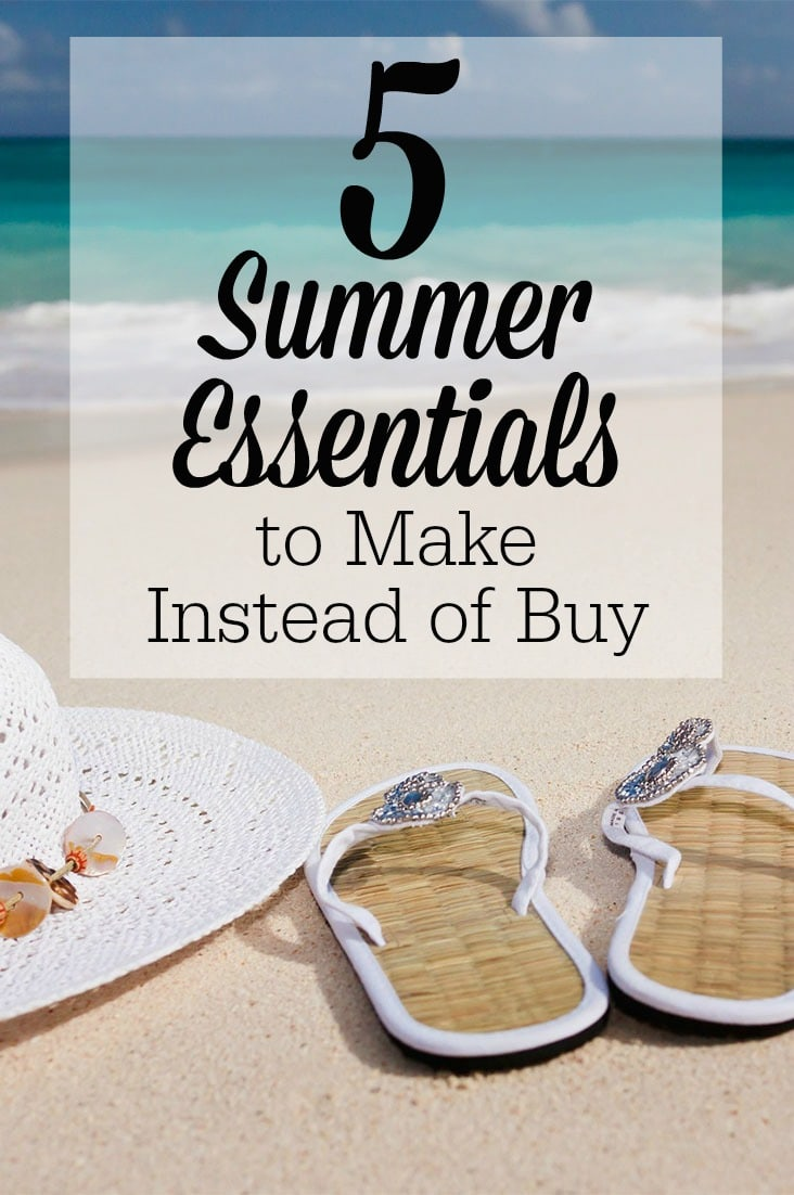 To save money this summer, here are 5 summer essentials to make instead of buy, including DIY sunscreen, homemade ice pops and ice cream, DIY bug spray, and a citronella candle!