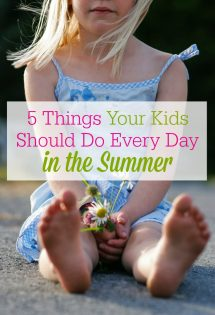 Survive summer with kids! Ready for your children to be home for the summer? Here are 5 things your kids should do every day in the summer that will make all of your lives more enjoyable.