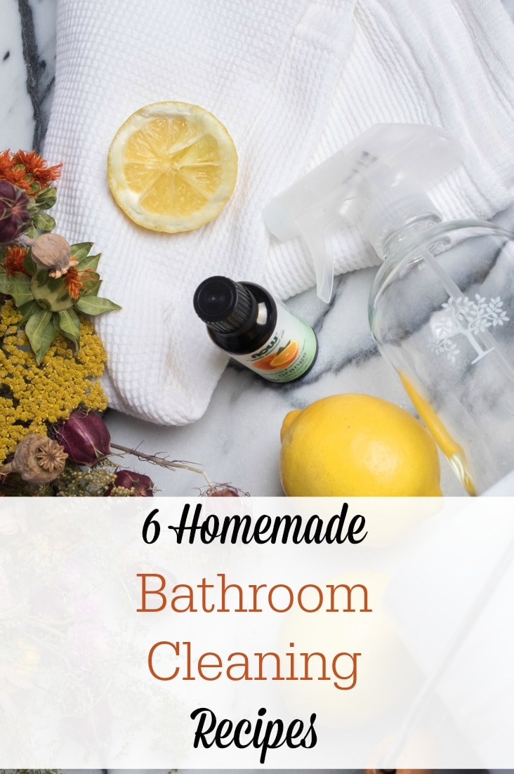 These homemade bathroom cleaning recipes will save you so much money--and they will guarantee a natural, non-toxic way to clean!