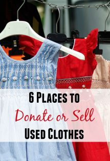 You don't have to live in clutter. Here are 6 places where I've learned I can donate or sell used clothes!