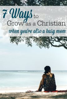 Though my Christian faith is extremely important to me as a mom, I struggle often to figure out how to set aside substantial time to invest in it. I've found these 7 ways keep me encouraged and growing as a Christian, even when motherhood keeps me busy.