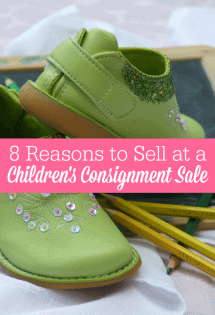 If you're looking to make extra money, you might want to consider selling at a children's consignment sale. It's not for everyone, but it just might be for you!