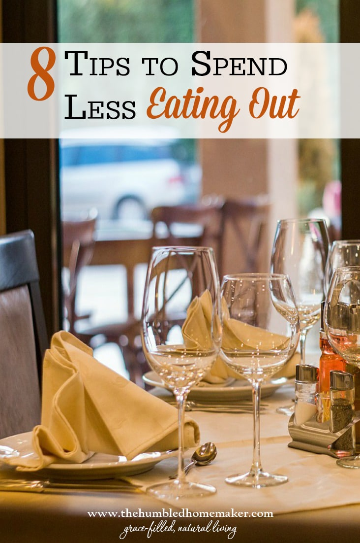 With some planning, you can spend less eating out and still have fun family time.