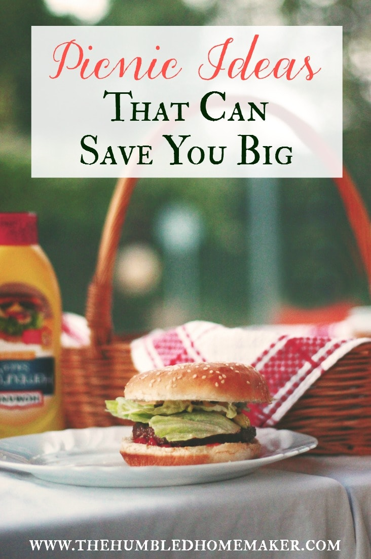 Pack a picnic instead of buying food out. Here are frugal picnic ideas that can save you over $1,500 a year!