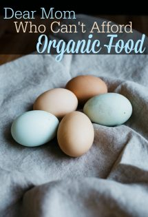 No matter how you look at it, some people simply cannot afford organic food. If you're one of those moms who simply doesn't have the grocery budget to afford organic food, know that you are not alone! This letter is for you.