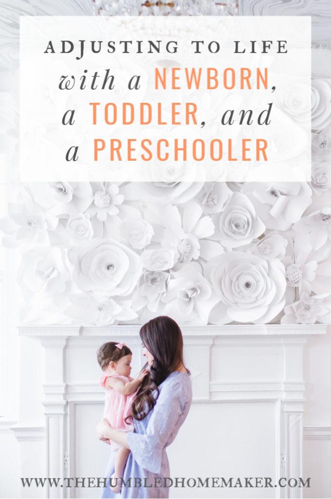 A day in my life with a newborn, a toddler, and a preschooler.