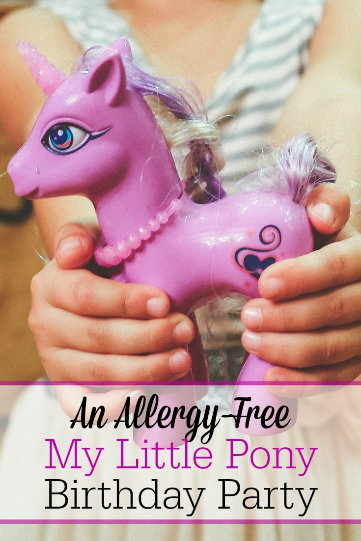 Celebrate a little girl's birthday with a My Little Pony themed birthday bash! Here are ideas for allergy-friendly cake, refreshments, activities, and more! And the best part is, this party won't break the bank!