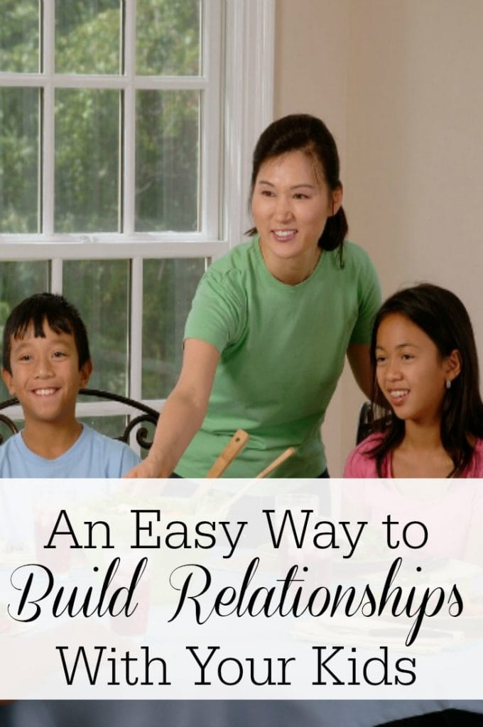 Some say it's never been harder to build relationships with your kids. This one easy way will make it a part of your every day!