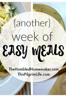 {Another} Week of Easy Meals