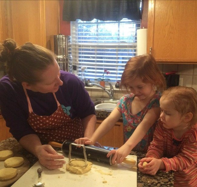 Baking with my two little ones