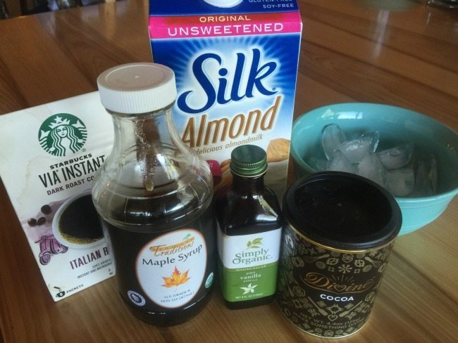 Blended Ice Coffee Recipe ingredients
