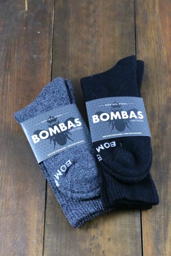 Bombas black and gray socks