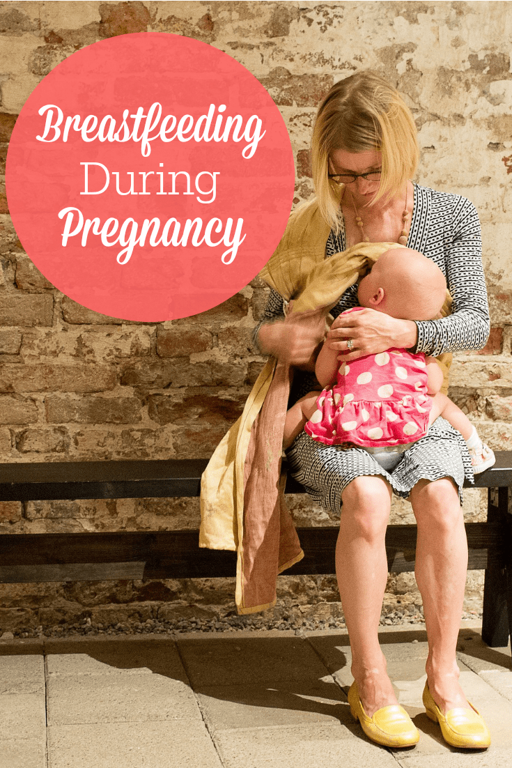 Many moms wonder if they can breastfeed during pregnancy. Here's answers to all of your questions about nursing while pregnant!