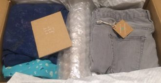 Clothes Inside ThredUp Box